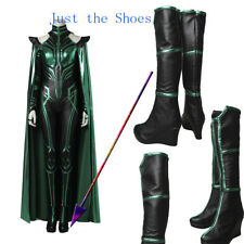 NEW ARRIVAL HOR 3 Ragnarok Hela Cosplay Costume Shoes Cos Boots Custom Made