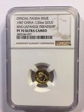 CHINA 1987 SINO-JAPANESE FRIENDSHIP OFFICIAL PANDA ISSUE NGC PF70UC #2805246-027