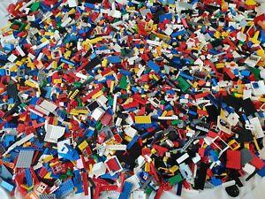 Genuine Lego Bundle 1kg-1000g Mixed Bricks Parts Pieces. Job Lot +2 Figures
