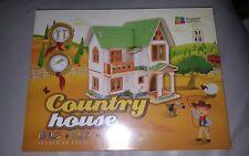 Country House 3D Puzzle in legno in Legno fai da te bambini costruire + Play