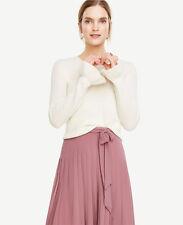 Ann Taylor - XL Winter White Cream Ruffle Cuff Wool Cashmere Sweater $89.50 (11)