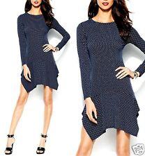 Michael Kors Luxus Kleid/Jerseykleid dunkelblau mit weißen Punkten Gr.40/L Neu!