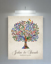 (LT-1254) Personalized Personalized Watercolor Tree Vintage Background Weddin...