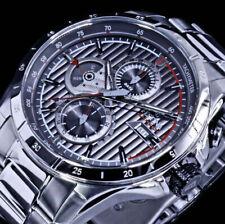 Festina Herren Armband Uhr Anthrazit Silber Farben Edelstahl Multifunktion
