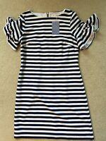Sail to Sable Women's Nautical Striped Ruffle Sleeve Dress - Size 2 NWT $228