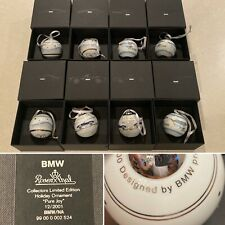Set 8 New in Box Bmw Automobile Porcelain Christmas Balls Ornaments by Rosenthal