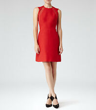New Reiss Women's LACE COTTON DAY DRESS  POINSETTIA Fit & Flare 0 US XXS