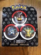 Tomy Pokemon Danglers 3 pack - Eevee, Leafeon, Glaceon
