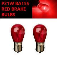 P21W BA15s 382 RED Stop Brake/Reversing/Tail Car Light Bulbs UK EU ROAD LEGAL