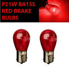 P21W BA15s 382 RED Stop Brake/Reversing/Tail Car Light Bulbs UK EU ROAD LEGAL