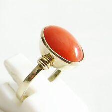Ring Gold 585er Koralle Goldringe 14 kt Edelsteine