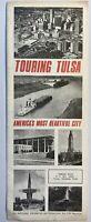Tulsa Oklahoma OK Folding Brochure Map Advertisement Souvenir 1960's