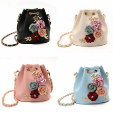 New Fashion Womens Girl Flower Pearl Shoulder Messenger Cross Body Bag Handbag