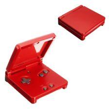 Para Gameboy Advance Sp , GBA Sp Carcasa Housing Rojo Metálico Pieza de Repuesto