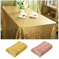 "40""x59"" Sparkly Glitter Sequin Tablecloth Table Cover Wedding Party Banquet Deco"
