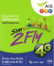SIM2FLY SIM 8 DAYS 4GB 4G 3G UNLIMITED DATA 14 countries in ASIA, S.Korea, Japan