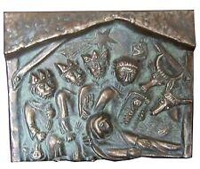 Bronze Relief Krippe hl. 3 Könige Weihnachten Tischrelief 10,5 cm * 8,5 cm