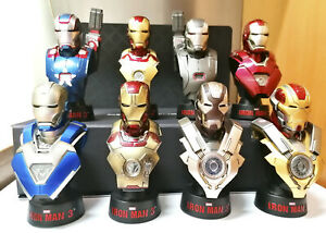 Sideshow. Hot Toys Iron Man 3 Deluxe Set I 1/6 Scale Bust Figures.