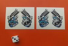 x 2 sticker bomb guns santa cruz JDM skate board decals eco solvent inks