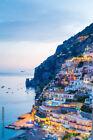 FRAMED CANVAS Art print giclée Positano, Amalfi Coast, Campania, Sorrento, Italy