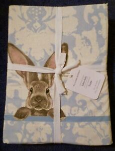 "NEW Williams Sonoma Tablecloth Damask Bunny 70""x 90"""