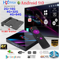 Lot H96 Max TV Box 16G/32G/64GB Android9.0 Dual WiFi Quad Core 4K Player Bracket
