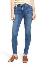 Caslon Womens Sierra High Waist Release Hem Skinny Jeans Plus Size 22 Blue NEW