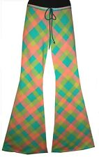 SIZE. L (16-18/20) LOVERSBAIT FUNKY 'RETRO PATCH' FLARES! OZ MADE. 70'S, DANCE.