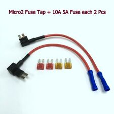 FH146 APT ATR Micro2 Fuse Tap Add-A-Circuit Adapter +5A 10A Fuse x 2 #Agtz