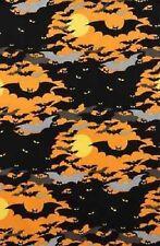 Alexander Henry 7455 B Orange Midnight Colony BTY Cotton Fabric FREE US SHIP