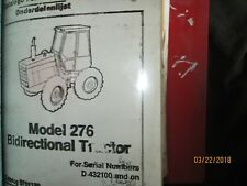 FORD NEW HOLLAND MODEL 276 Bidirectional Tractor Parts Manual Catalog Book 1989