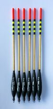 """Caperlan 5+1g Missile Bodied Waggler Match Fishing Floats 8"""" (20cm) Pack of 6"""