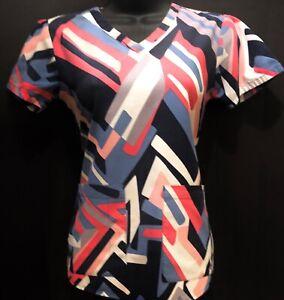 G2- Grey's Anatomy Nursing medical scrub shirt blouse top-XS