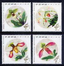 China 2001-18-Orchids Flower Lady's Slipper /compl.Set-MNH, Mi.Nr.3277-80**