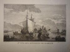 Franz Edmund WEIROTTER (1733-1771) GRAVURE XVIII PAYSAGE HARLEM HOLLANDE 1770 b