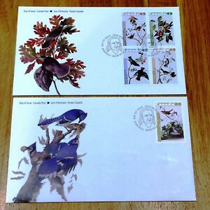 Canada FDC 2004.05.21. Birds - Block of Four & Imperforated Issue