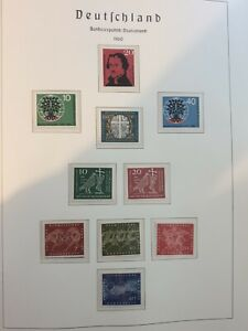 FEDERAL REPUBLIC OF GERMANY AND BERLIN 1960  Full stamp sets  MNH
