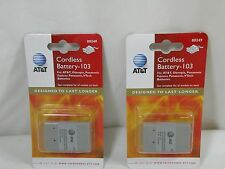 Genuine AT&T 103 Cordless Phone Rechargeable Battery 3.6V, 700mAh LOT OF 2 NEW