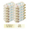Predo Baby Wipes, 12 Packs, 1200 Wipes, Aloe, Vitamin E and Vitamin B5