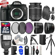 Canon EOS 7D Mark II DSLR Camera + 18-55mm + 64GB MC+Filters+Tripod & More