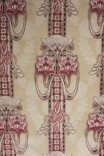 Antique French Art Nouveau curtain fabric material design old upholstery