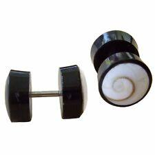 1 Paar ! Ohrringe GESCHRAUBT Fake Piercing Horn Plug Shiva Muschel F082