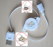 Retractable micro USB for Power Bank external Battery Charger cable ladeger