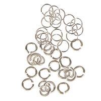 40 Stück Sterling Silber 925 Offene Biegeringe 3mm 6mm Schmuckherstellung