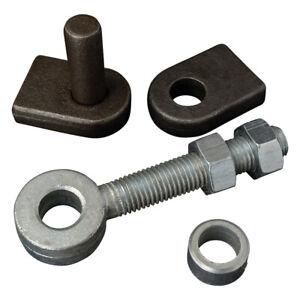 Adjustable Zinc Eye Bolts - Weld On Pin - Weld on Eye - Steel Gate Hinge Hangers