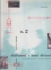 Diaframmi e muri divisori. Quaderni Vitrum 2. Paoli. Gio Ponti, Richard Neutra