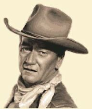 JOHN WAYNE - complete counted cross stitch sewing kit