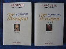 DICTIONNAIRE DE LA MUSIQUE / 2 VOLUMES / MARC VIGNAL / LAROUSSE