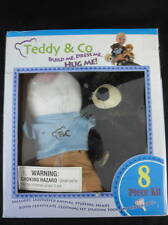Teddy & Co Bear Build Kit Brown Bear with Tshirt Shorts Outfit NIB