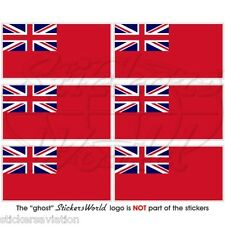 BRITISH RED ENSIGN commerciante BANDIERA UK 40mm MOBILE CELLULARE MINI sticker-decal X6